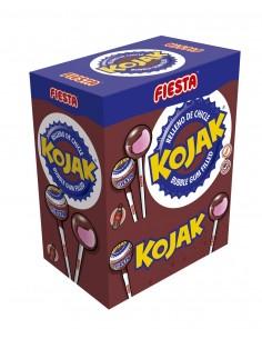 FIESTA Kojak Caramelo con Palo Sabor Cola Relleno de Chicle