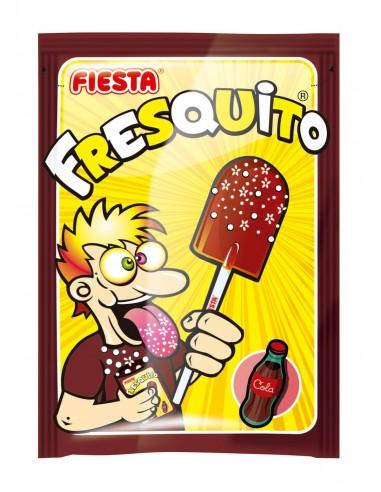 FIESTA Fresquito Caramelo con Palo en Sobre con Polvo Acidulado Sabor Cola
