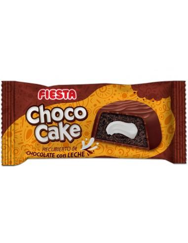 FIESTA Choco Cake Bizcocho esponjoso recubierto de chocolate con leche y relleno de crema de nata