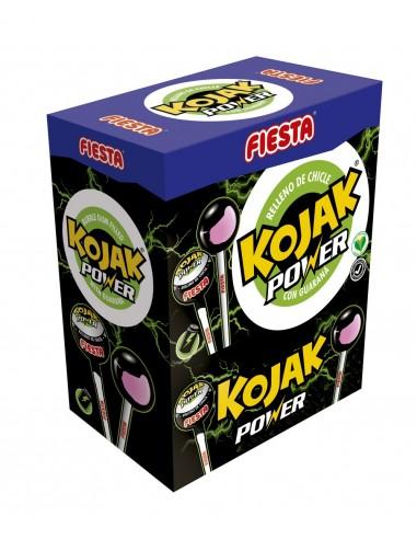 FIESTA Kojak Power Caramelo con Palo Sabor Bebida Energética Relleno de Chicle