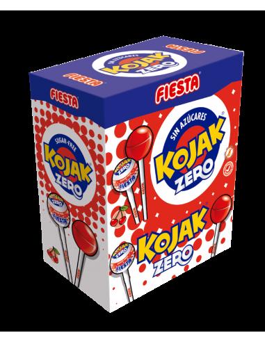 FIESTA Kojak Sin Azúcar Caramelo con Palo Sabor Cereza